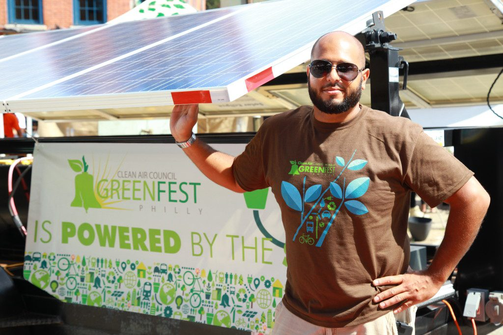 Greenfest Philly is 100% solar powered.